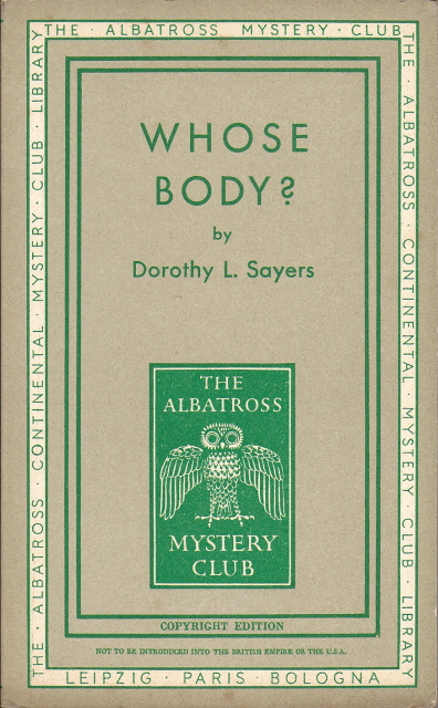 Albatross 418 Mystery Club