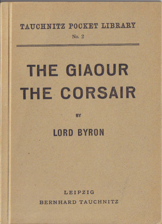 I2 The Giaour.  The Corsair.