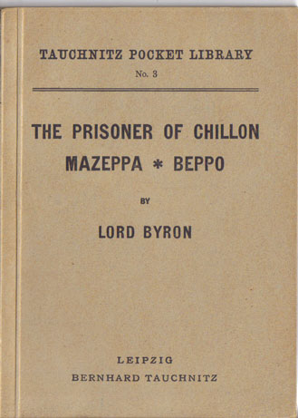 I3  The prisoner of Chillon.  Mazeppa.  Beppo.