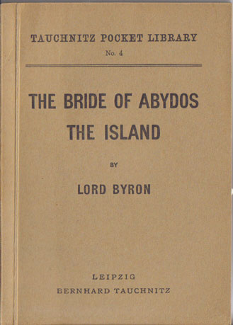 I4  The bride of Abydos.  The Island.