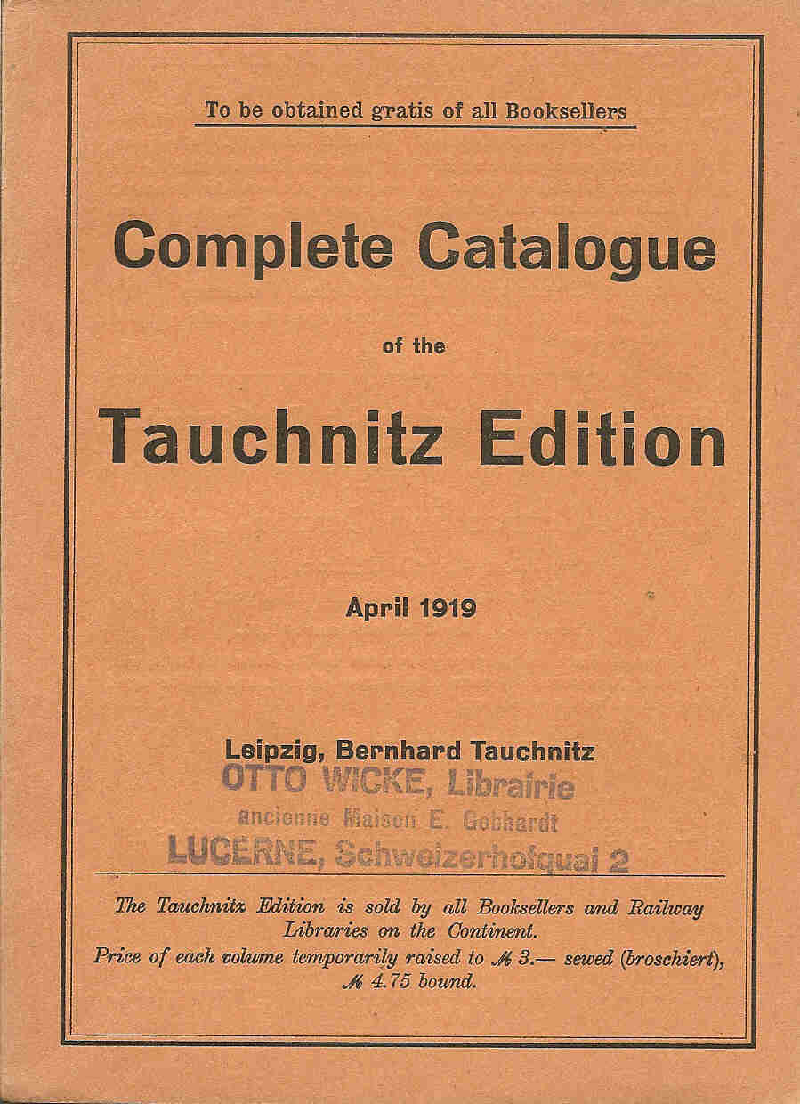 Complete catalogue April 1919