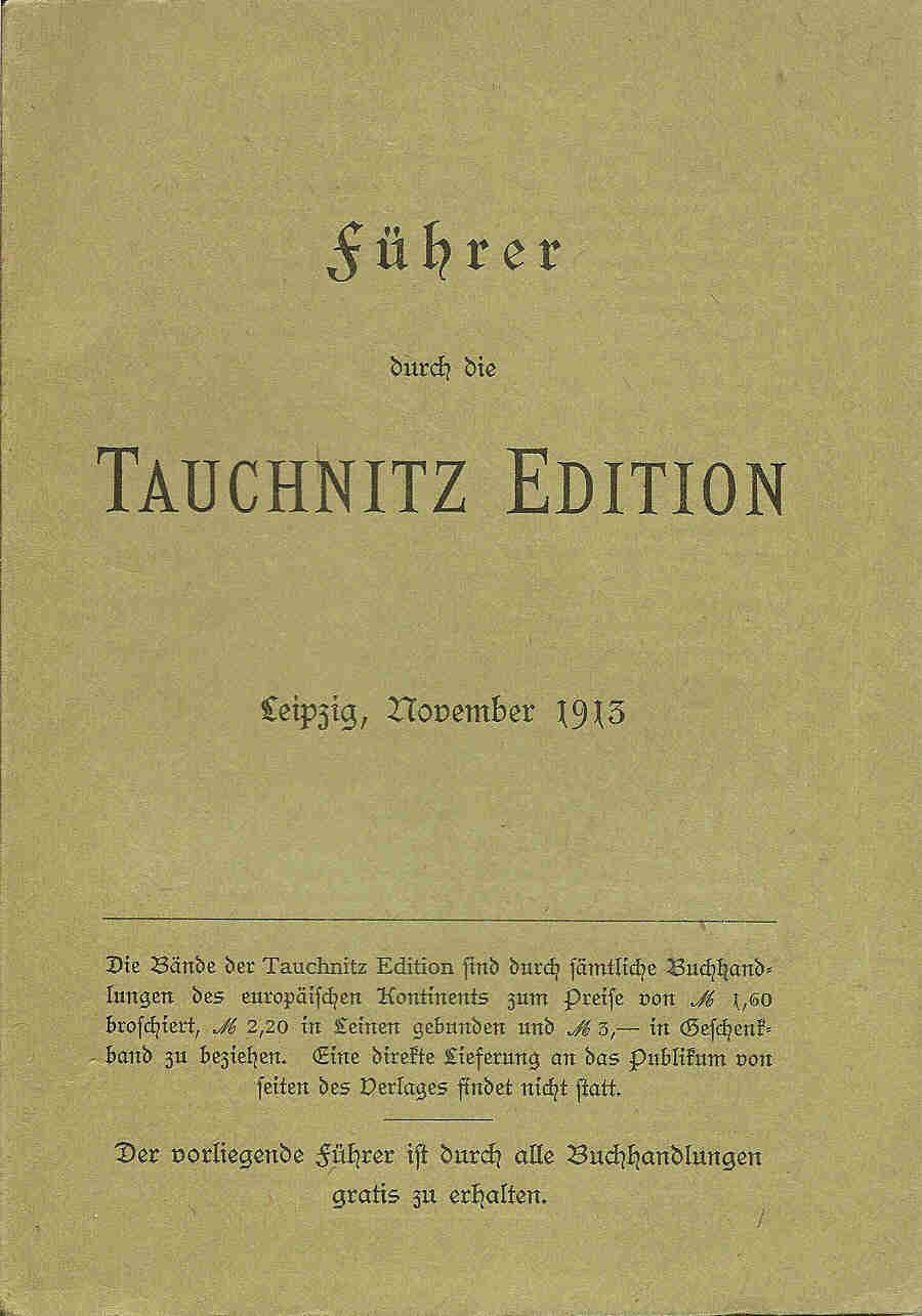 German Complete catalogue November 1913