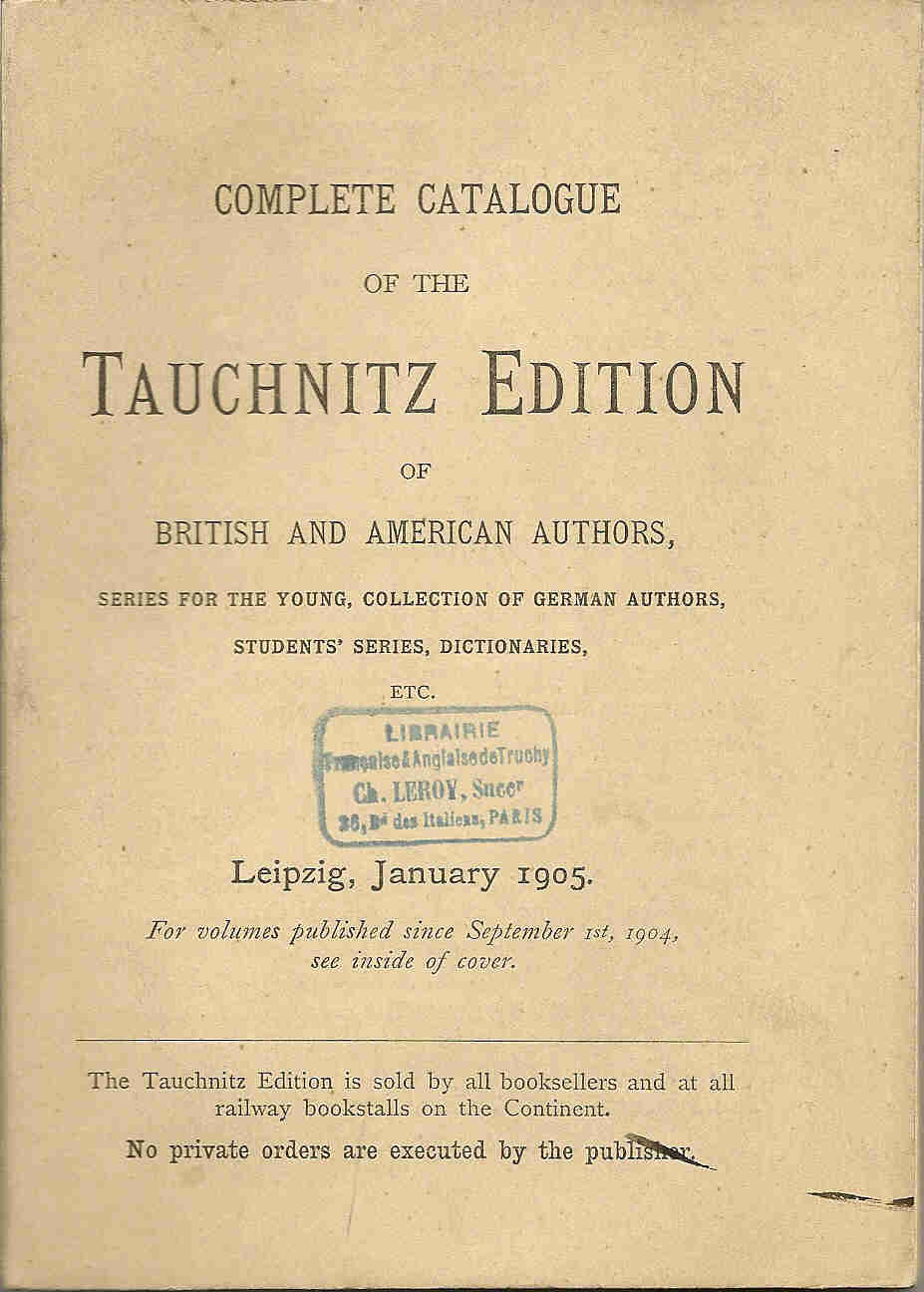 Complete catalogue January 1905