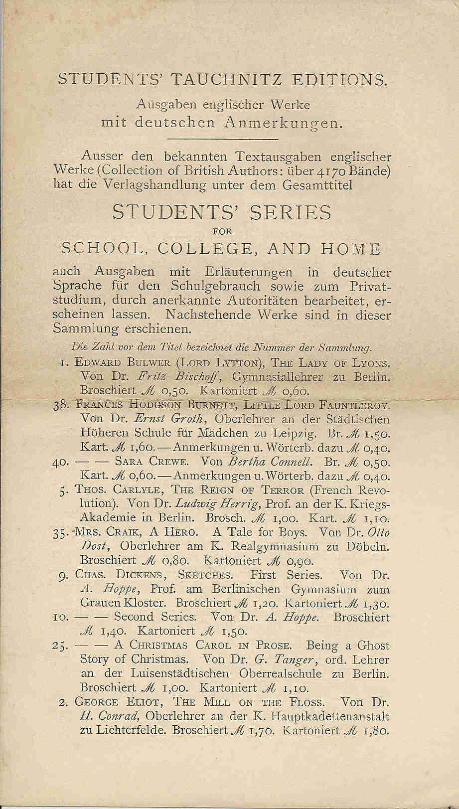 flyer for Students Series
